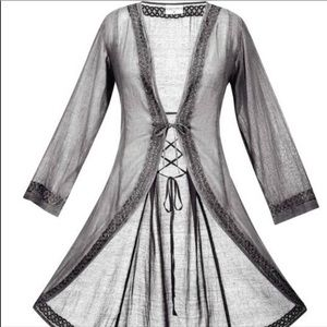 Other - NEW Silver Gray Long Cover Up Plus Size 5X